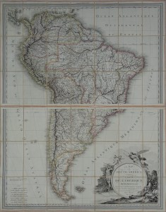 "Ameryka Południowa ""A MAP of SOUTH AMERICA"" ""CARTE DE L'AMERIQUE MERIDIONALE""  Lapie Tardieu 1814"